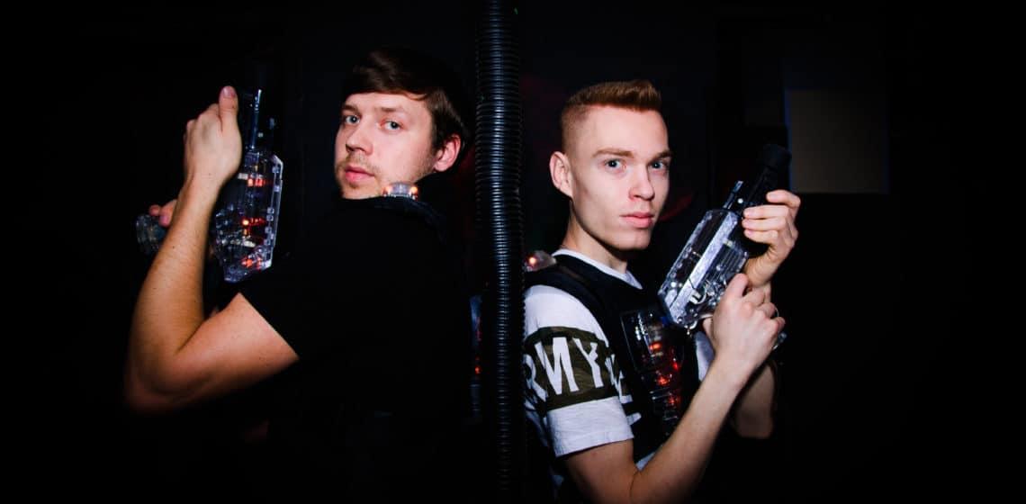 Игроки в лазертаге