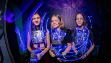 Фотография проведения дня рождения в лазертаге